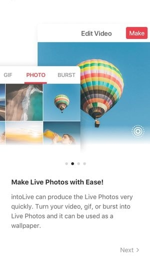 "Are you ready to create your live wallpaper with intoLive Free? Hit ""Getting Started""!"